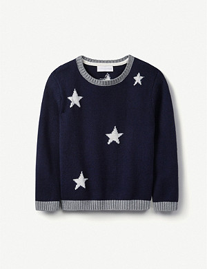 THE LITTLE WHITE COMPANY Glow in the dark star jumper 1-6 years