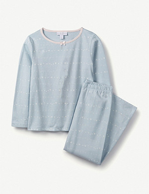 THE LITTLE WHITE COMPANY Glow-in-the-dark cotton pyjama set 1-6 years