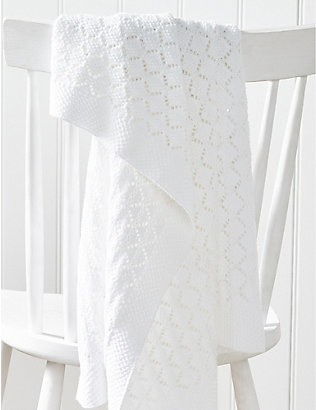 THE LITTLE WHITE COMPANY: Heirloom cotton baby blanket