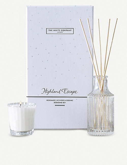 THE WHITE COMPANY Highland Escape scented candle and reed diffuser set