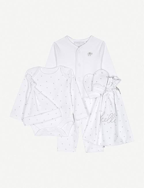 e9a7b48e7dce THE LITTLE WHITE COMPANY Hello Baby cotton gift set Newborn-6 months