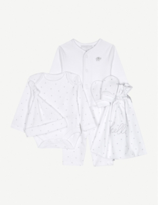 THE LITTLE WHITE COMPANY Hello Baby cotton gift set Newborn-6 months