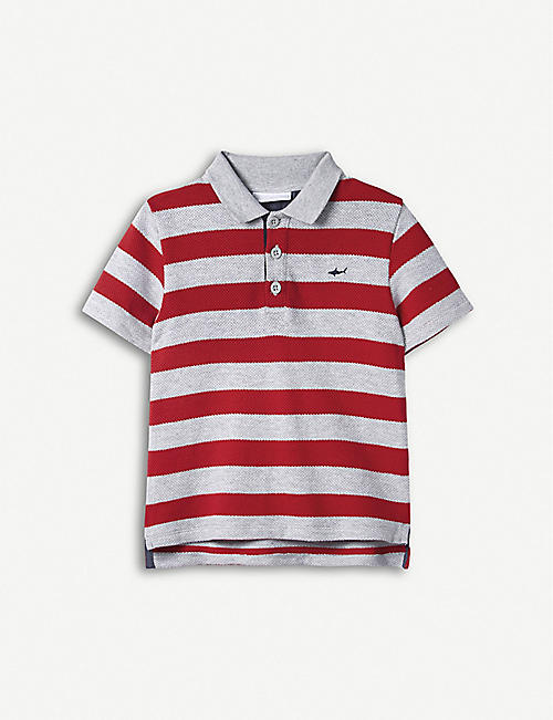 THE LITTLE WHITE COMPANY Striped cotton polo top 1–6 years