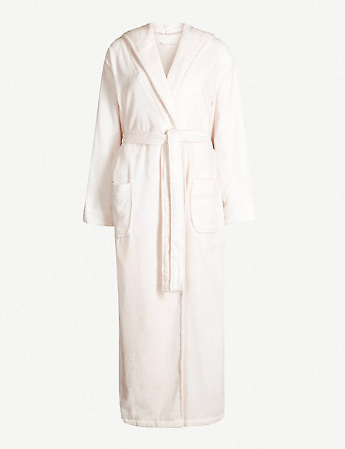THE WHITE COMPANY Hooded velour dressing gown 3ac4ad26e