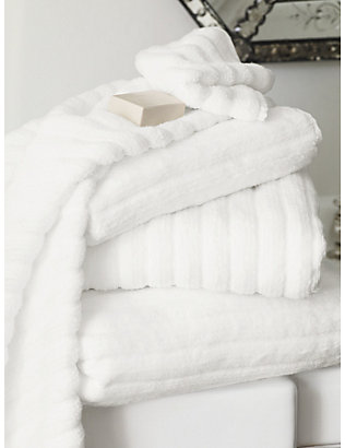 THE WHITE COMPANY: Ribbed hydrocotton face cloth