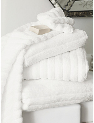 THE WHITE COMPANY Ribbed hydrocotton face cloth