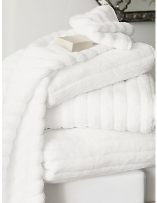 THE WHITE COMPANY: Ribbed hydrocotton hand towel