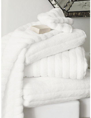 THE WHITE COMPANY: Ribbed hydrocotton super jumbo towel