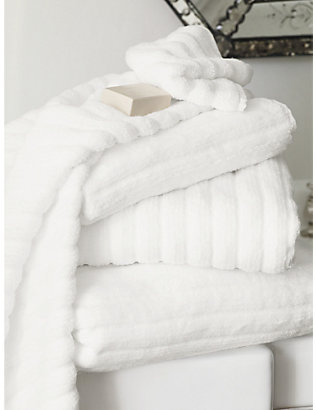 THE WHITE COMPANY: Ribbed hydrocotton bath sheet