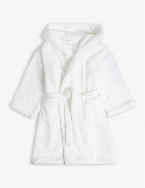 THE LITTLE WHITE COMPANY: Hooded cotton robe with ears 3-4 years