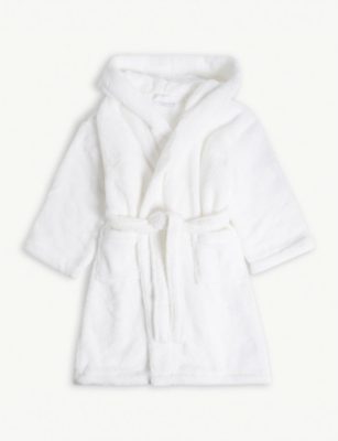 THE LITTLE WHITE COMPANY Hooded cotton robe with ears 3-4 years