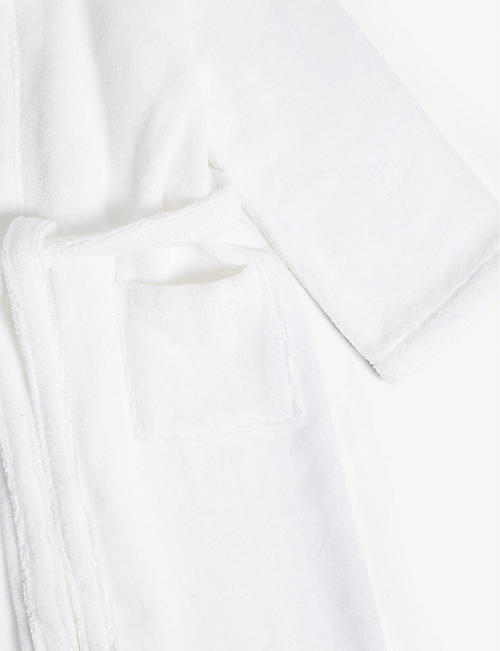 THE LITTLE WHITE COMPANY Hydrocotton unisex bathrobe 7-12 years
