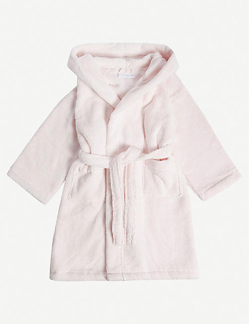 THE LITTLE WHITE COMPANY: Bear ears hydrocotton dressing gown 2-5 years