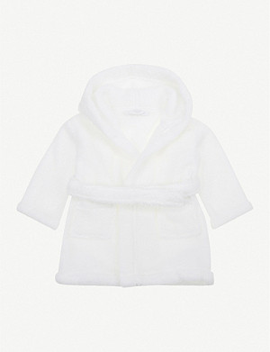 THE LITTLE WHITE COMPANY Hydrocotton baby robe 0-12 months
