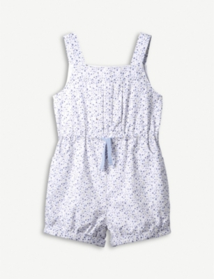 THE LITTLE WHITE COMPANY Ida cotton playsuit 1 - 6 years