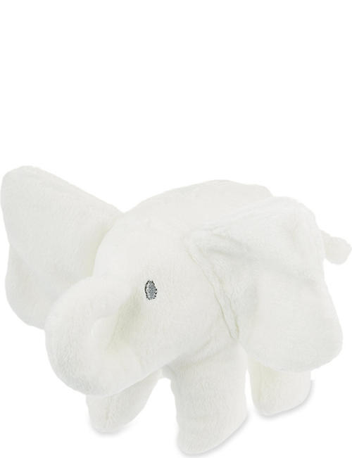 THE LITTLE WHITE COMPANY: Indy Elephant soft toy 15cm