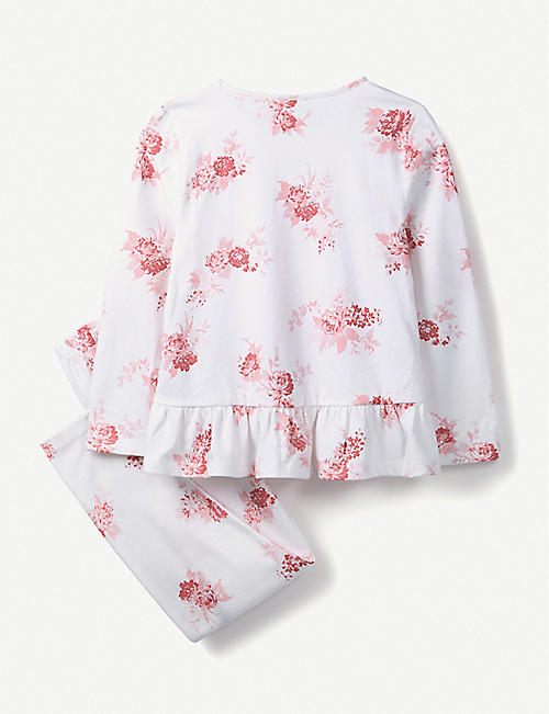 THE LITTLE WHITE COMPANY Isabella floral-print cotton pyjamas 1-12 years
