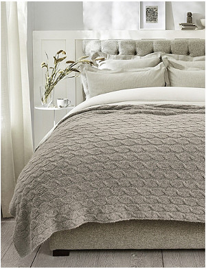 THE WHITE COMPANY Cableknit wool and alpaca-blend throw 139cm x 200cm