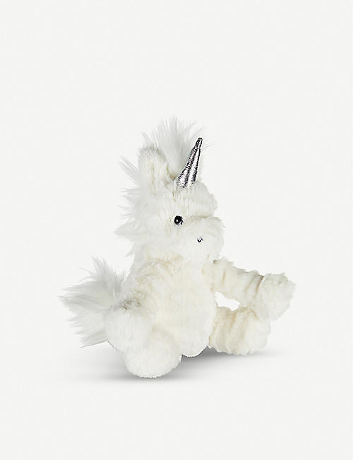 THE LITTLE WHITE COMPANY Jellycat Fuddlewuddle Unicorn faux-fur soft toy 12cm