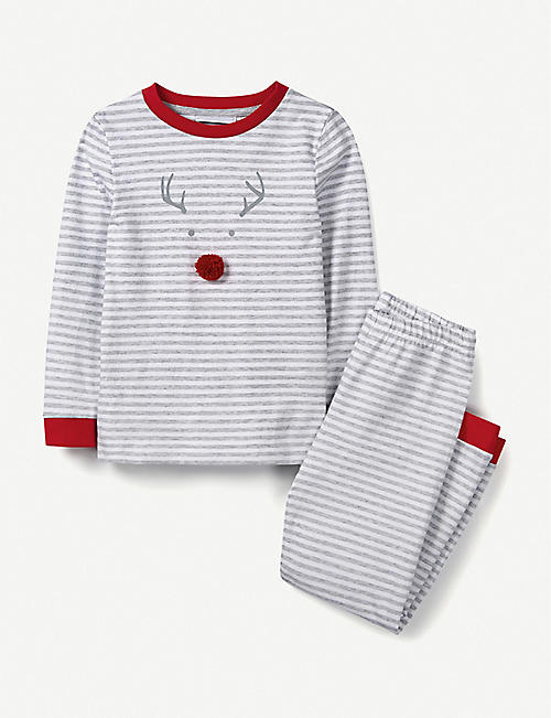 THE LITTLE WHITE COMPANY Jingles striped cotton pyjamas 1-6 years