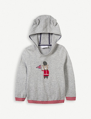 THE LITTLE WHITE COMPANY Charlie Bear cotton hoody 1-6 years