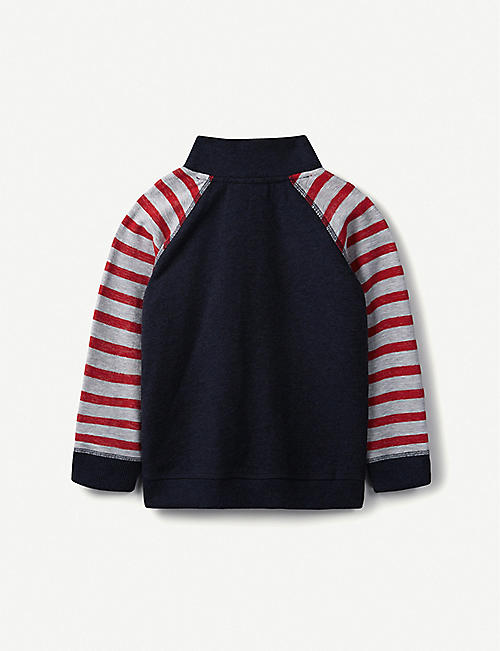 THE LITTLE WHITE COMPANY Jungles zipped cotton sweatshirt 1-6 years