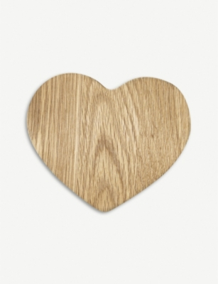 THE WHITE COMPANY Heart-shaped wood serving board 20cm