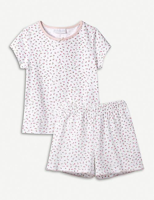 THE LITTLE WHITE COMPANY Kira floral cotton pyjama set 1-12 years 92a7da092