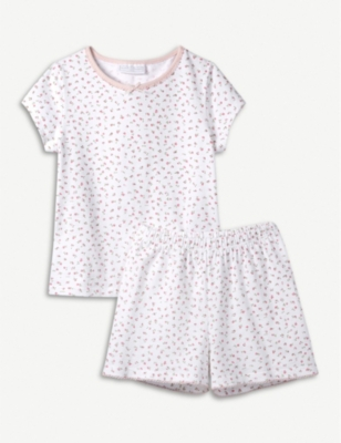 THE LITTLE WHITE COMPANY Kira floral cotton pyjama set 1-12 years