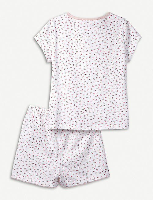 THE LITTLE WHITE COMPANY Kira floral cotton pyjamas 7-12 months