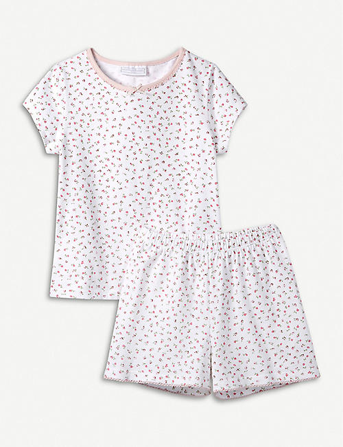 977f864d73c7 THE LITTLE WHITE COMPANY Kira floral cotton pyjamas 7-12 months