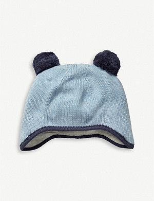 THE LITTLE WHITE COMPANY Knitted cotton pom-pom hat 0-24 months