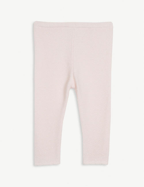 THE LITTLE WHITE COMPANY Knitted cotton leggings 0-24 months