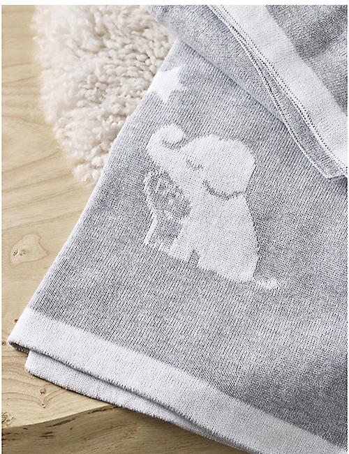 THE LITTLE WHITE COMPANY Kimbo Star cotton baby blanket