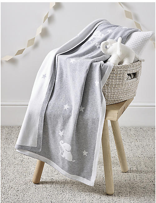 THE LITTLE WHITE COMPANY: Kimbo Star cotton baby blanket