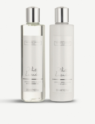 THE WHITE COMPANY White Lavender bath & body gift set 2 x 250ml