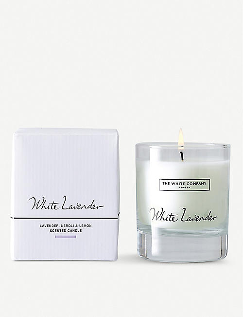 THE WHITE COMPANY White lavender scented candle 140g