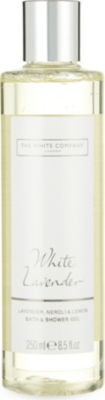 THE WHITE COMPANY White Lavender bath & shower gel 250ml