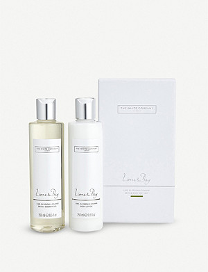 THE WHITE COMPANY Lime and Bay bath and body set
