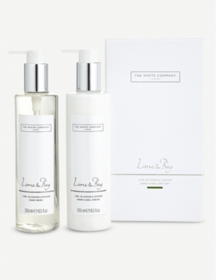 THE WHITE COMPANY Lime and Bay scented hand and nail gift set