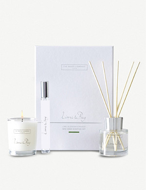 THE WHITE COMPANY Lime and Bay home scenting gift set