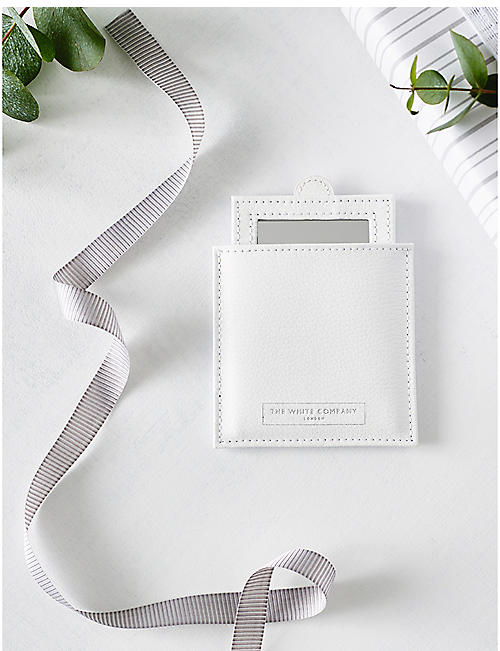 THE WHITE COMPANY: Compact bonded-leather mirror