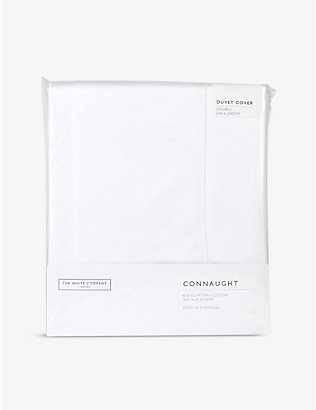 THE WHITE COMPANY: Connaught cotton and silk-blend double duvet cover 200cm x 200cm