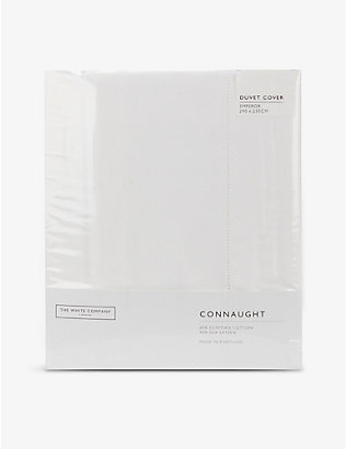 THE WHITE COMPANY: Connaught cotton and silk-blend emperor duvet cover 290cm x 235cm