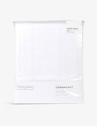 THE WHITE COMPANY: Connaught cotton and silk-blend king duvet cover 225cm x 220cm
