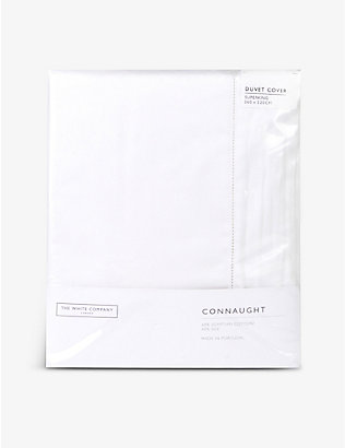 THE WHITE COMPANY: Connaught cotton and silk-blend super king duvet cover 260cm x 220cm