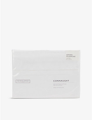 THE WHITE COMPANY: Connaught cotton and silk-blend Oxford pillowcase 65cm x 65cm