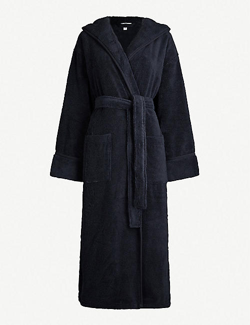 THE WHITE COMPANY: Hooded hydrocotton dressing gown