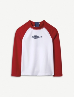 THE LITTLE WHITE COMPANY Little Fish rash vest 1-6 years