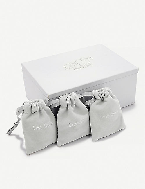 THE LITTLE WHITE COMPANY: Leather kimbo keepsake box